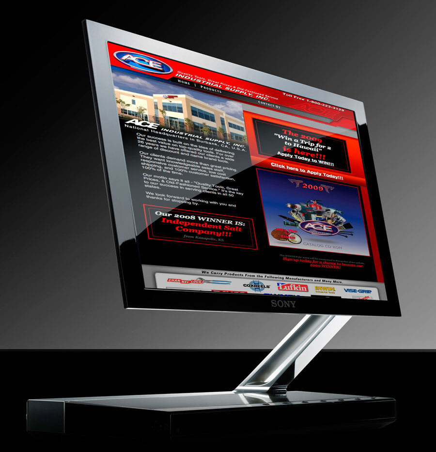 Ace Industrial Supply Website Design & Development