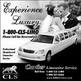 CLS Limousine Services Black and White Print Ad Design