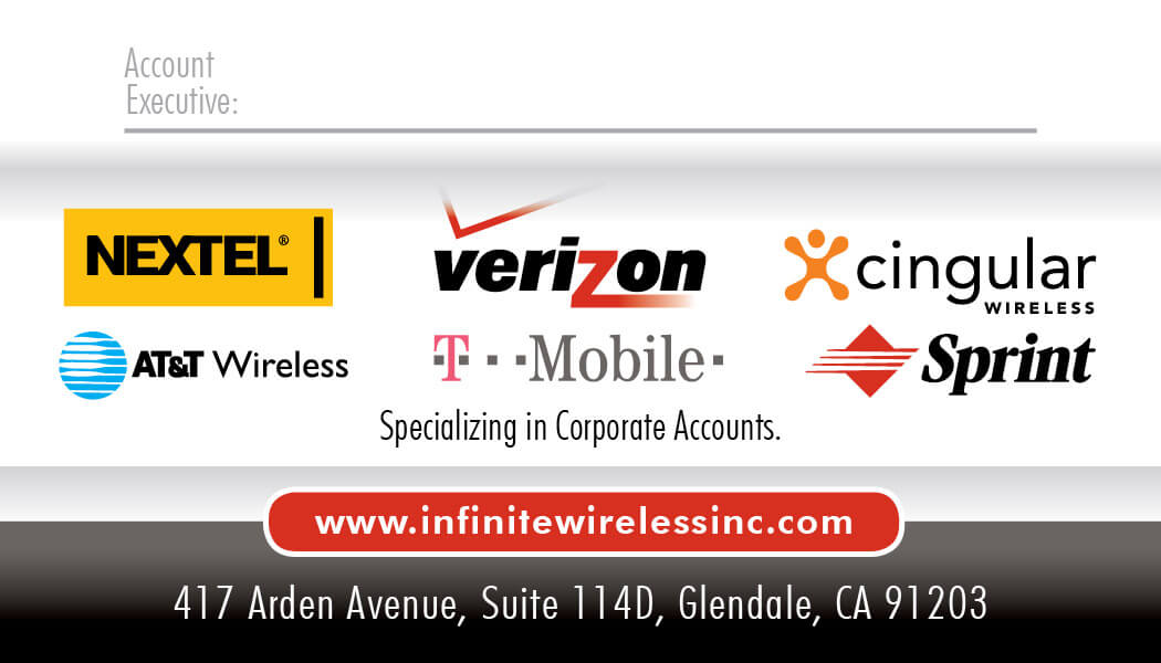 Infinite wireless business card design printing business card infinite wireless business card design printing reheart Images