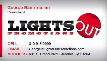 Lightsout promotions business card business card print lightsout promotions business card reheart Images