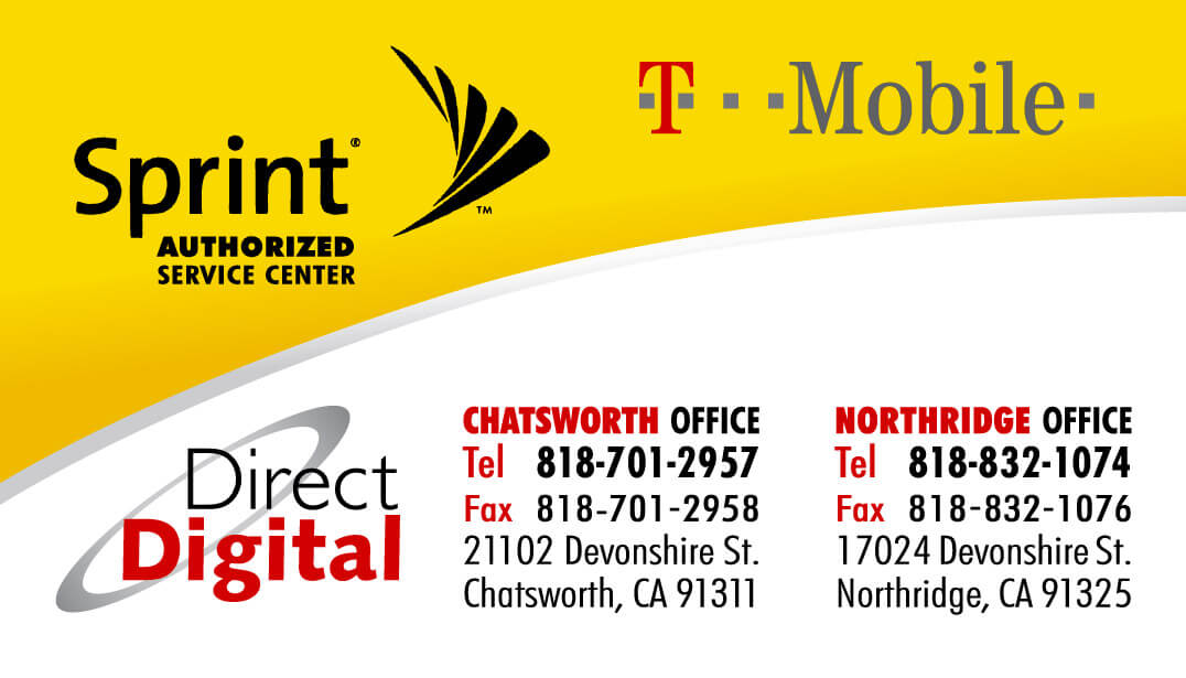 Sprint Authorized Service Center Business Card Design and Printing ...