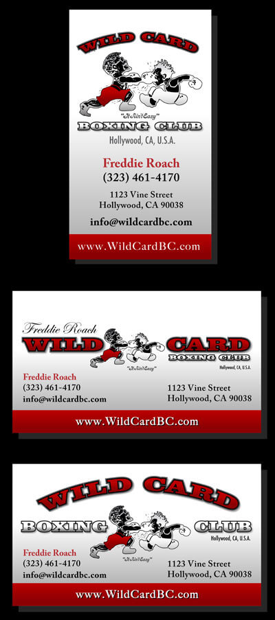 Wild card boxing club business cards design business card print wild card boxing club business cards design colourmoves
